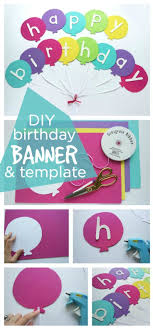 Happy Birthday Balloons Banner Happy Birthday Banner Diy Template Home Decor Diy Birthday