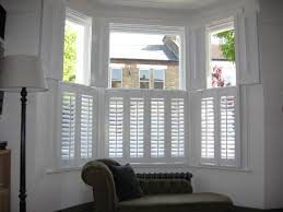 Remarkable Windows Bay Design And Accessories Inspiration Photos: Inspiring  White Plantation Shutters Ideas With Wood Window Coverings As Inspiring  Windows ...