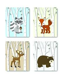 woodland nursery decor art forest animals animal wall prints only design on forest animal nursery wall art with woodland nursery decor art forest animals animal wall prints only