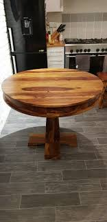 indian rosewood 100 cm round dining table
