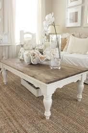 diy distressed wood top coffee table