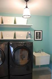 Laundry room office design blue wall Cabinets Smalllaundryroomdesign Homemydesigncom Smalllaundryroomdesign Home Design And Interior