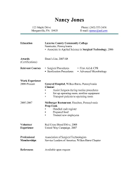 Surgical Tech Resume Free Resume Templates