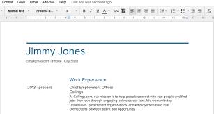 Resume Template On Google Docs Best Template Idea