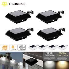 T SUN <b>T SUNRISE</b> 4PCS <b>PACK</b> Solar Power Wall Light Sensor 6 ...
