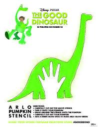 Free Disney The Good Dinosaur Pumpkin