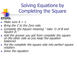 5 solving equations by completing
