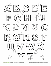 Upper and lowercase handwriting can be practiced, too. Abc Worksheet Education Com Abc Worksheets Abc Coloring Abc Coloring Pages
