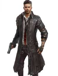 pubg black leather long trench coat for men jpg