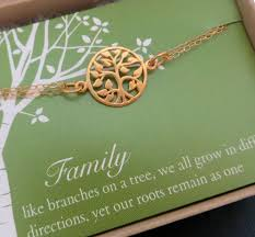 Tree Of Life Quote Unique Mother's Tree Of Life Bracelet Gold Or Sterling Silver Gift For