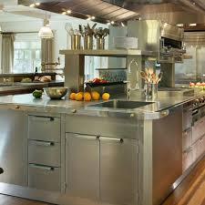 curtain industrial style kitchen stainless steel island
