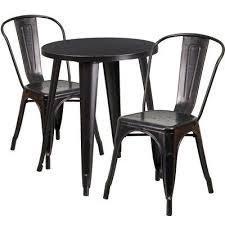 Hashtag Home Ramona <b>3 Piece Dining Set</b> Color: Black/Antique ...