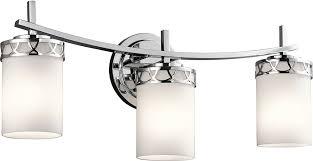 contemporary vanity lighting. kichler 45586ch marlowe contemporary chrome 3light vanity lighting fixture loading zoom y