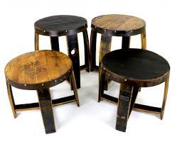 bourbon barrel end tables authentic jim beam whiskey barrel table
