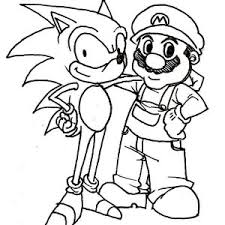 Mario And Sonic Pictures To Colour Free Coloring Pages On Art