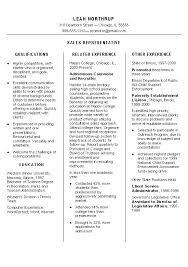 Skills For Sales Representative Resume
