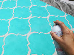 spray painting an outdoor rug designs