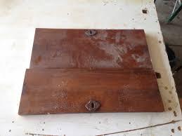 wooden box lid in progress