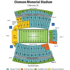 Clemson Memorial Stadium Seating Chart Seat Numbers Clemson Football Seating Charg Related Keywords
