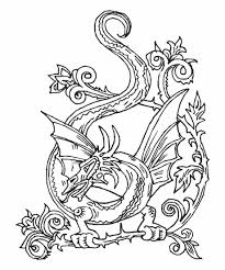 Printable Celtic Designs Coloring Pages Dragon Printable Coloring Pages Celtic Coloring Page