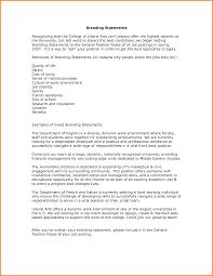 Personal Branding Statement Examples LetterHead Template Sample
