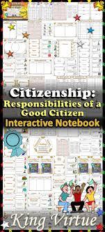 best good citizen ideas citizenship responsibilities of a good citizen interactive notebook bundle citizenship