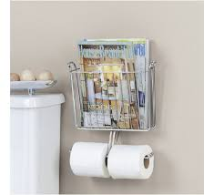 Chrome Toilet Paper Holder Magazine Rack Magnificent Keep Your Reading Organized Order Inside Your Bathroom With