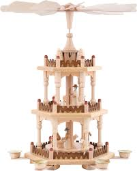 3 Tier Pyramid Merry Christmas 41 Cm 16in By Theo Lorenz
