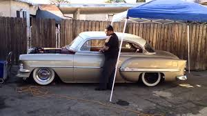 1954 chevy belair airbagged - YouTube