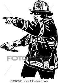 イラスト Lineart 消防士 消防士 火 戦闘機 クリップアート切り張りイラスト絵画集