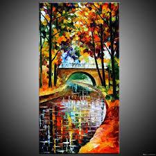 acrylic canvas painting landscape