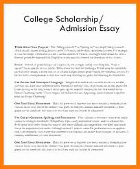 College Scholarship Essay Format Ohye Mcpgroup Co