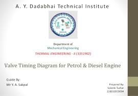 valve timing diagram for four stroke & two stroke diesel & petrol diesel engine valve timing diagram valve timing diagram for petrol & diesel engine guide by mr y a sakpal prepared by