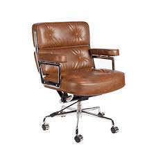 Image Modern Lazybuddy Vintage Caramel Brown Premium Pu Leather Soft Pad Executive Management Office Replica Chair Swivel And Amazoncom Vintage Office Chair Amazoncom