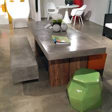 Reclaimed Teak Dining Table Concrete And Reclaimed Teak Dining Table With Urban Bench And