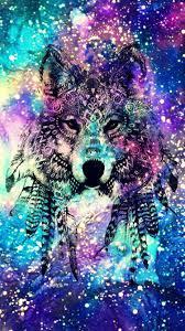 Galaxy Wolf Rainbow Wallpapers ...
