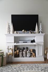 Mantle Without Fireplace Ana White Build A Faux Fireplace Mantle With Hidden Storage