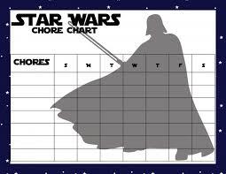 Star Wars Behavior Chart Printable Star Wars Chore Charts Clever Pink Pirate