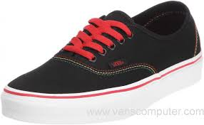 vans shoes black and red. us - men\u0027s/women\u0027s vans authentic (rasta) black / red skate shoes and b
