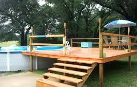 above ground pool deck kits great above ground pool deck kits wall ideas ideas on picture