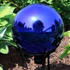 sunnydaze garden gazing globe ball