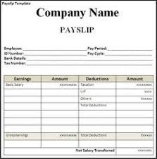 Get Employee Pay Slip Template Format Projectmanagersinn