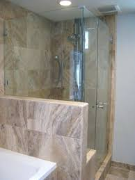 Seamless shower walls Piece Glass Showers Seamless Shower Walls Corner Showers On Pony Wall Wrap Around Glass Surround Autosvit Bathroom Design Modern Showers Seamless Shower Walls Decorative Bathroom And Floors By