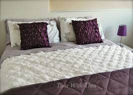 how to take care of brand new bed sheets mauve dark purple and white