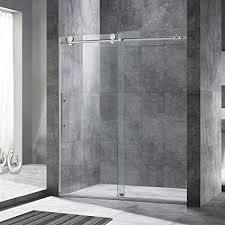 shower doors sliding. Beautiful Shower WOODBRIDGE Frameless Sliding Shower Door 56u0026quot60u0026quot Width 76u0026quot  Height With Doors W