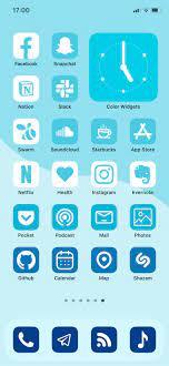 Calm - Aesthetic Blue App Icons, iOS 14 ...