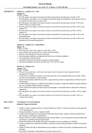 Sample Medical Assistant Resume Medical Assistant Resume Samples Velvet Jobs 19