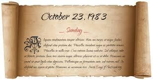 Image result for October 23, 1983