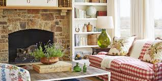 country cottage style living room. Country Style Rustic Modern Farmhouse Living Room With Red Cottage E