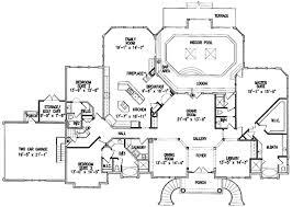 11 House Plans With Indoor Pool Endearing Swimming Ranch Appealing